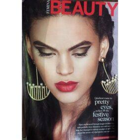 Retro Pearl Danglers featured in Femina Magazine December'16 Issue