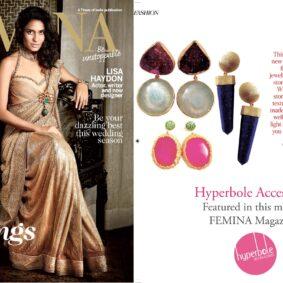 Hyperbole Accessories for Femina Magazine, November 2014