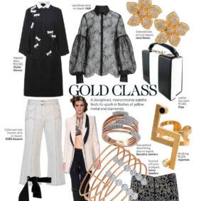 Golden Tetris Ring featured in Femina 25th October 2016 Issue